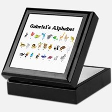 Gabriel's Animal Alphabet Keepsake Box