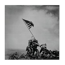 Historical Pic of Iwo Jima Tile Coaster