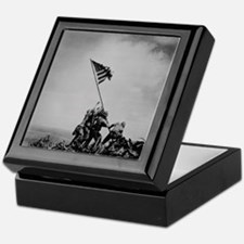 Historical Pic of Iwo Jima Keepsake Box