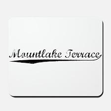 Vintage Mountlake .. (Black) Mousepad