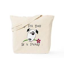 Pansy Pit Bull Tote Bag