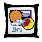 Libra sun moon Throw Pillow
