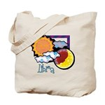Libra sun moon Tote Bag