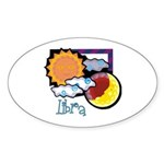 Libra sun moon Oval Sticker