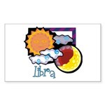 Libra sun moon Rectangle Sticker