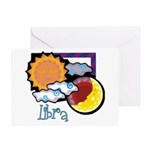 Libra sun moon Greeting Card