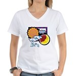 Libra sun moon Women's V-Neck T-Shirt