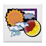 Leo sun moon Tile Coaster