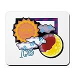 Leo sun moon Mousepad