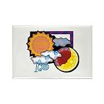 Leo sun moon Rectangle Magnet (10 pack)