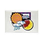 Leo sun moon Rectangle Magnet (100 pack)