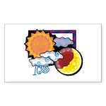 Leo sun moon Rectangle Sticker