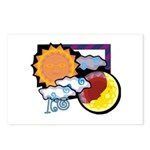 Leo sun moon Postcards (Package of 8)