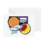 Leo sun moon Greeting Cards (Pk of 10)