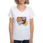 Leo sun moon Women's V-Neck T-Shirt