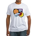 Leo sun moon Fitted T-Shirt