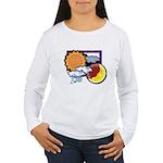 Leo sun moon Women's Long Sleeve T-Shirt