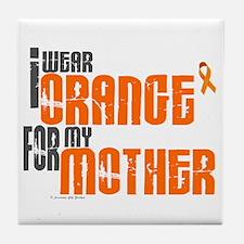 I Wear Orange For My Mother 6 Tile Coaster
