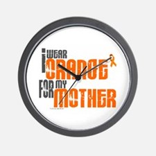 I Wear Orange For My Mother 6 Wall Clock