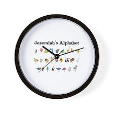 Jeremiah's Animal Alphabet Wall Clock
