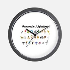Jeremy's Animal Alphabet Wall Clock