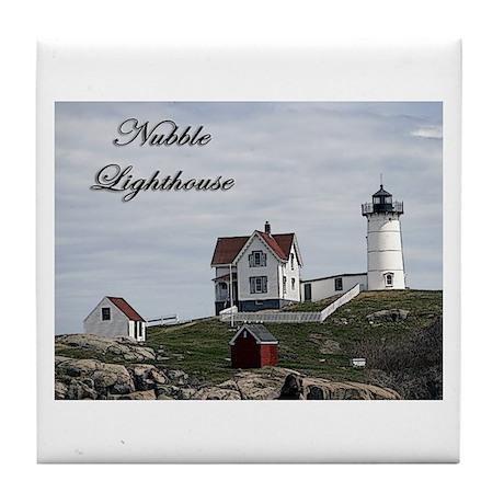 Nubble Lighthouse ~ Tile Coaster