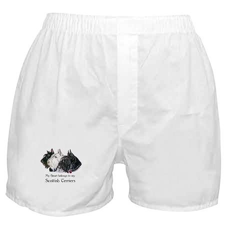 Scottish Terrier Trio Boxer Shorts