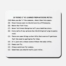 10 Things Learned from MST3K Mousepad