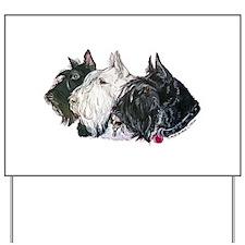 Scottish Terrier Trio Yard Sign