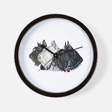 Scottish Terrier Trio Wall Clock