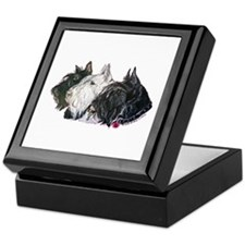 Scottish Terrier Trio Keepsake Box