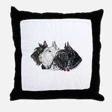 Scottish Terrier Trio Throw Pillow