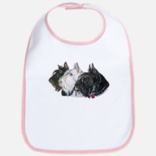 Scottish Terrier Trio Bib