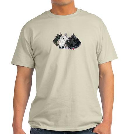 Scottish Terrier Trio Light T-Shirt