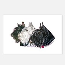 Scottish Terrier Trio Postcards (Package of 8)
