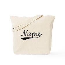 Vintage Napa (Black) Tote Bag