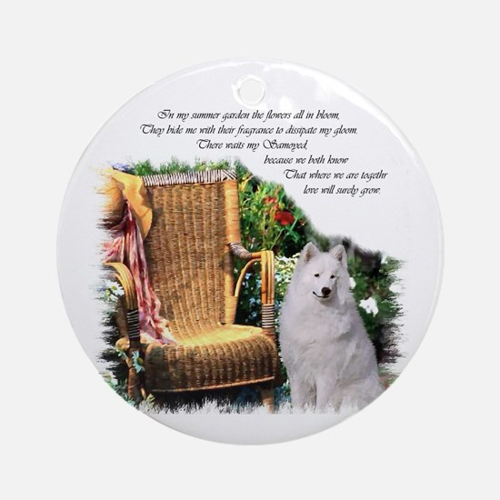 Samoyed Art Ornament (Round)