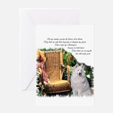 Samoyed Art Greeting Card