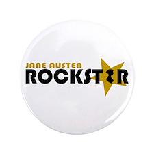 """Jane Austen Rockstar Gold 3.5"""" Button"""