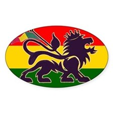 Reggae Rastafarian Oval Decal