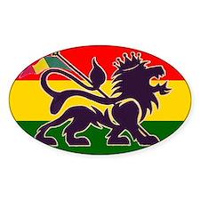 Reggae Rastafarian Oval Decal