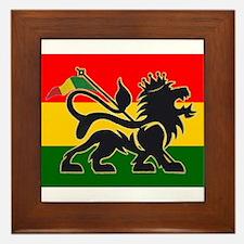 Reggae Rastafarian Framed Tile