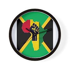 Reggae Rastafarian Wall Clock