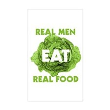 Real Men Eat Real Food Rectangle Decal