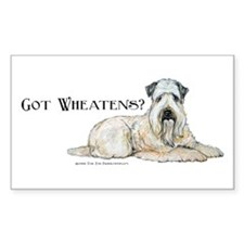 Wheaten Terriers Got Wheaties Sticker (Rectangular
