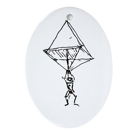 da Vinci Oval Ornament