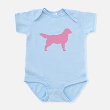 Pink Golden Retriever Infant Bodysuit
