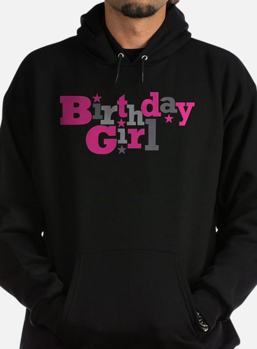 Pink Birthday Girl Star Sweatshirt