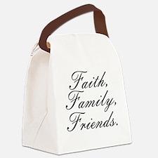 Faith, Family, Friends, Canvas Lunch Bag