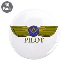 "Mason Pilot 3.5"" Button (10 pack)"